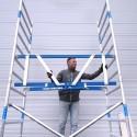Torre Móvil Máxima Seguridad Barandilla AGS Pro 75X190m altura de trabajo 4,30m