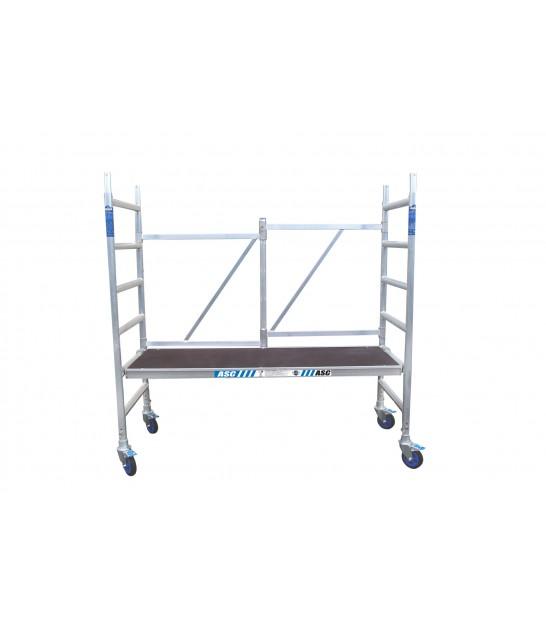 Andamio Aluminio Plegable Profesional Altura 3m Con Trampilla 3m