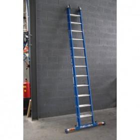 Escalera extensible aluminio XD 3x8 con barra estabilizadora