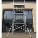 Torre móvil de aluminio ASC 135 X 190 Ancha (Altura de trabajo 4 m)