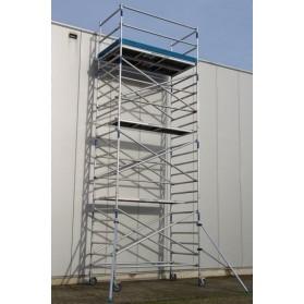 Andamio Torre móvil de aluminio ancha 305cm