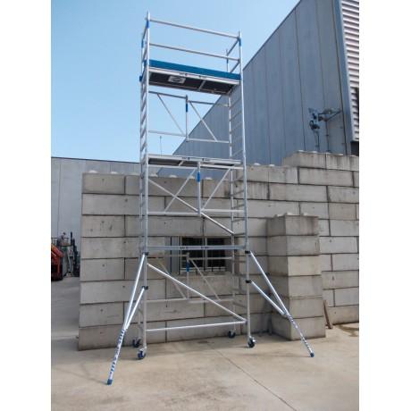 Andamio plegable en aluminio D75-6 CT ASC altura de trabajo 7,50 mts