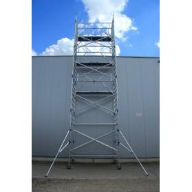 Andamio Torre móvil de aluminio (Ancho) plataforma 190 cm