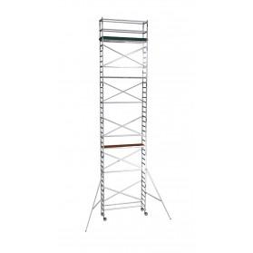 Torre de aluminio profesional estrecha 75x250