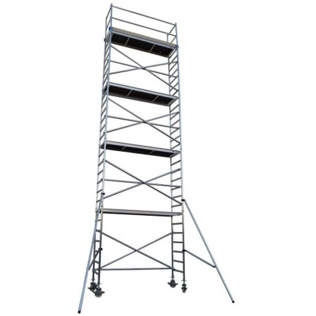 Andamio Torre móvil de aluminio estrecha 190cm