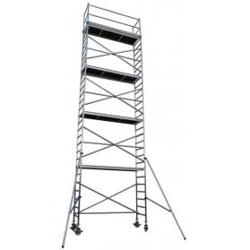 Andamio Torre móvil de aluminio estrecha 305cm