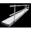 Pasarela de Aluminio 8m ASC doble barrandilla